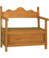 Sonora Wood Bench W/ Storage