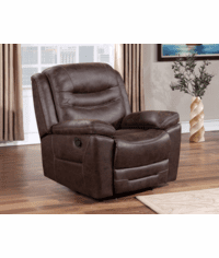 Stetson Rustic Faux Leather Chair Recliner & Glider