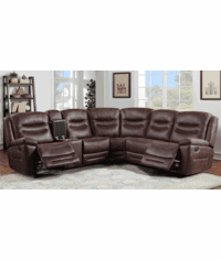 Stetson Rustic Faux Leather Sectional