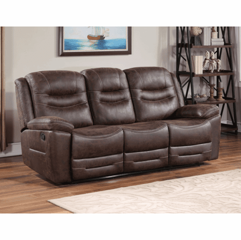 Stetson Rustic Faux Leather Sofa Recliner