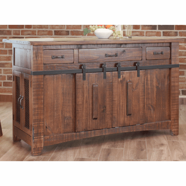 Rustic Kitchen Island, Rustic Pine Kitchen Island, Wood ...