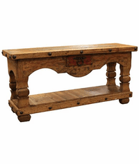 "Taos Distressed Console Table 66""L"