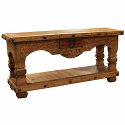 """Taos Distressed Console Table 66""""L"""