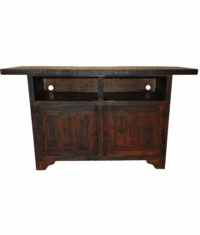 """Taos Flat Screen 63"""" Antique Red TV Stand"""