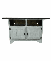 """Taos Flat Screen 63"""" Antique White TV Stand"""