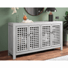 """Taos Gray Accent Cabinet 70"""""""