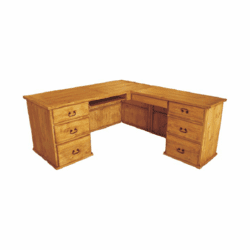 Taos L-Shape Rustic Wood Desk