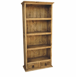 Taos Rustic Narrow Bookcase