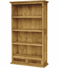 Taos Rustic Wood Bookcase