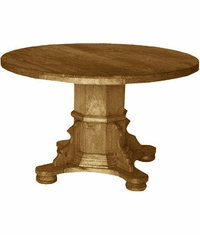 Taxco Rustic Pedestal Dining Table