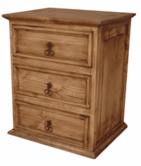 Tonola Rustic Wood Night Stand Table