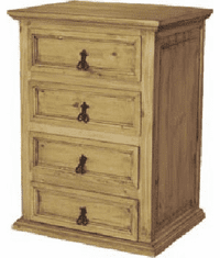 Tonola Tall Rustic Wood Night Stand