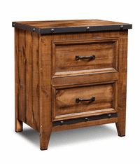 Urban Rustic 2 Drawer Nights Stand