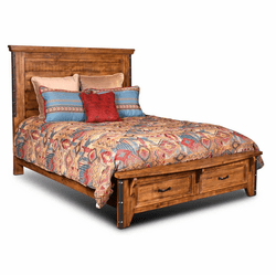 Urban Rustic Storage Bed W/ Drawers Queen