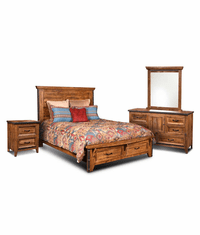 Urban Rustic Storage Bedroom Set
