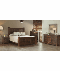 Vera Cruz Rustic Panel Bedroom Set