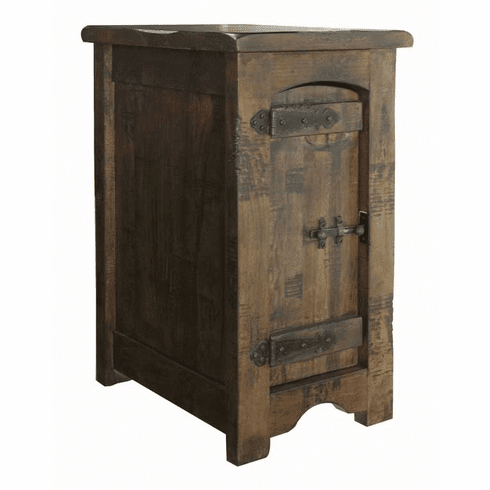 Vera Cruz Rustic Wood Side Table
