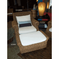 Water Hyacinth Arm Chair and Ottoman