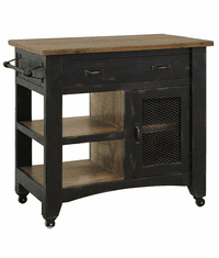 Yucatan Black Kitchen Cart