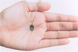 Allende Meteorite Jewelry 14k Pendant Necklace Chain