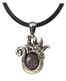 Allende Dragon Meteorite Jewelry Pendant Necklace - Sold!