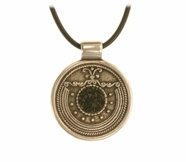 Allende Meteorite Jewelry Zamak Large Tribal Pendant Necklace