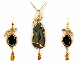 Ancient Evenings Cave Jewelry 14k Gold Citrine Accent
