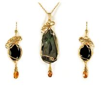 Ancient Evenings Cave Jewelry with a Story 14K Gold Gift Set