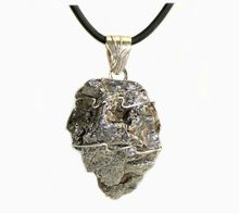 Arrowhead Shaped Campo Iron Meteorite Pendant Necklace Stainless Steel
