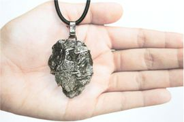 Meteorite Jewelry Pendant Necklace Stainless Steel Arrowhead Shaped Campo Iron