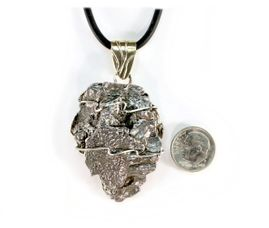 Arrowhead Shaped Campo Meteorite Pendant Necklace Stainless Steel