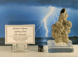 Authentic Fulgurite Lightning Sand Lake Maracaibo Venezuela