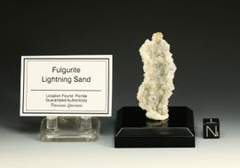 "Exceptional Lightning Sand Fulgurite  ""Crystal-Like"" Open Chamber"