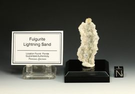 "Exceptional Lightning Sand Fulgurite  ""Geode Like"" Open Chamber"