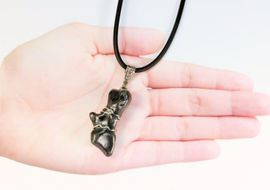 Authentic Meteorite Jewelry Pendant Necklace Sikhote-Alin Sterling Silver
