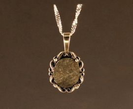 Ensisheim Meteorite Jewelry Pendant Necklace Sterling Silver