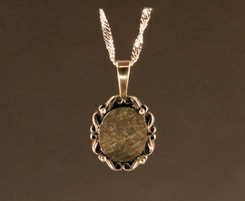 Ensisheim Christopher Columbus 1492 Meteorite Jewelry Pendant Necklace Sterling Silver