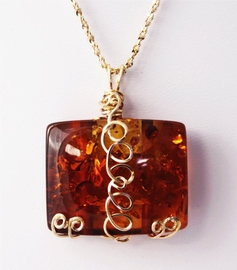 Exquisite Amber Jewelry 14K Gold - Sold!