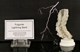 Fulgurite from Florida Great Quality, Large Naturally Bended