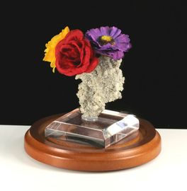Fulgurite Lightning Sand Colorful Flower Bouquet Vase Stand