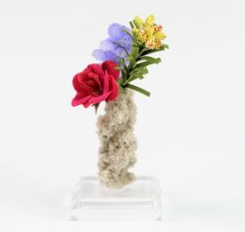 Fulgurite Lightning Sand Colorful Flower Bouquet Vase - Sold!