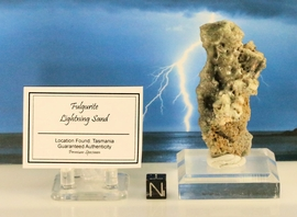 Fulgurite Lightning Sand Glass Lined Large Chard