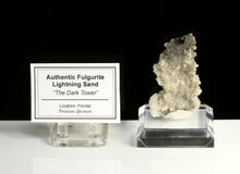 """The Dark Tower"" Fulgurite Lightning Sand Glass Tube"