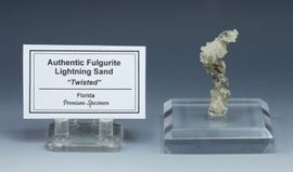 Fulgurite Lightning Sand Glass Tube Twisted