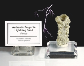 Fulgurite Lightning Sand Glass Tube White Grained - Sold!