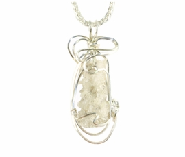 Authentic Fulgurite Lightning Pendant Necklace Sterling Silver