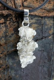 Fulgurite Lightning Sand Swirl Wrapped Sterling Silver Large