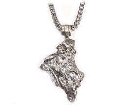 Giant Iron Campo Meteorite Jewelry Pendant Necklace Cross-Like for Sale Men Women