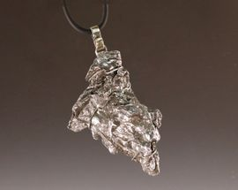 Extra Large Iron Campo Meteorite Jewelry Pendant Necklace Men