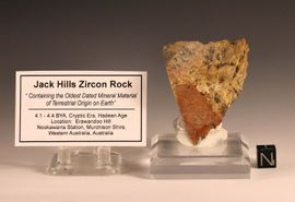 Jack Hills Zircon Minerals in Rough Rock Specimen